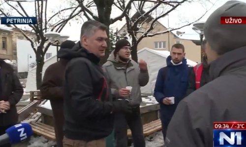 Zoran Milanović u Petrinji obišao kuhare i nazdravio  rakijom