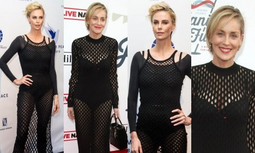 Charlize Theron i Sharon Stone iste večeri zablistale u identičnim stajlinzima