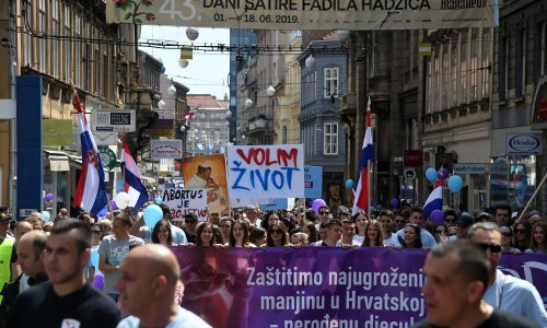 Policija: Hod za život okupio je 7 tisuća ljudi, Markić: Bilo nas je 20 tisuća