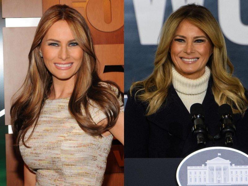 Melania Trump 2010. i 2020.