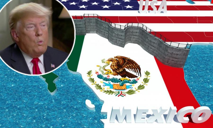 Donald Trump / Zid na granici - ilustracija