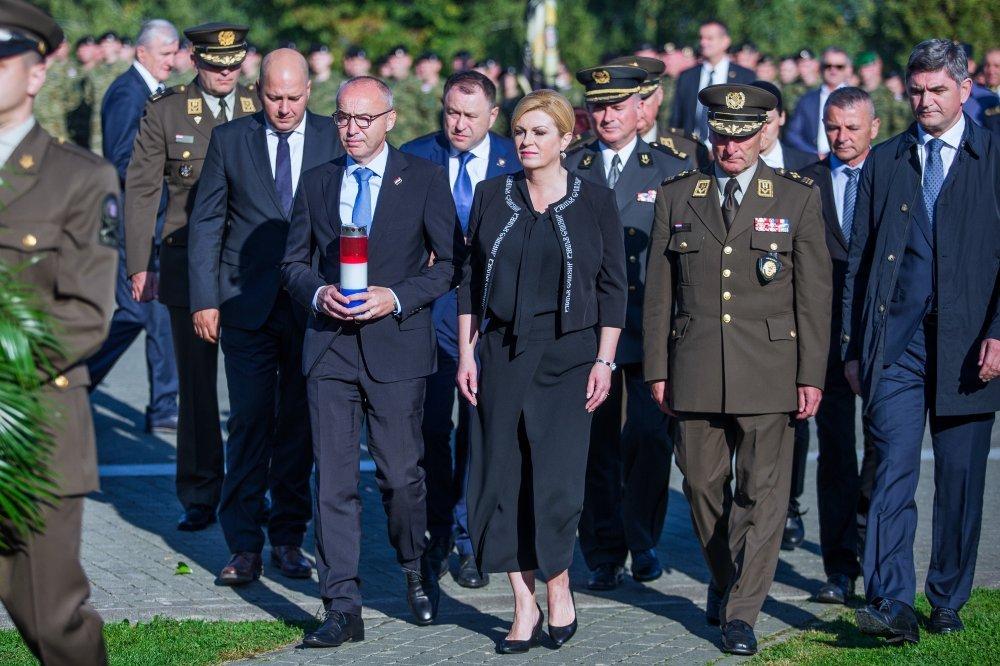 Kolinda Grabar Kitarović na obilježavanju pogibije general bojnika Blage Zadre