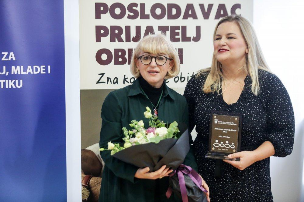 Dodjela priznanja 'Poslodavac prijatelj obitelji' za 2019. godinu