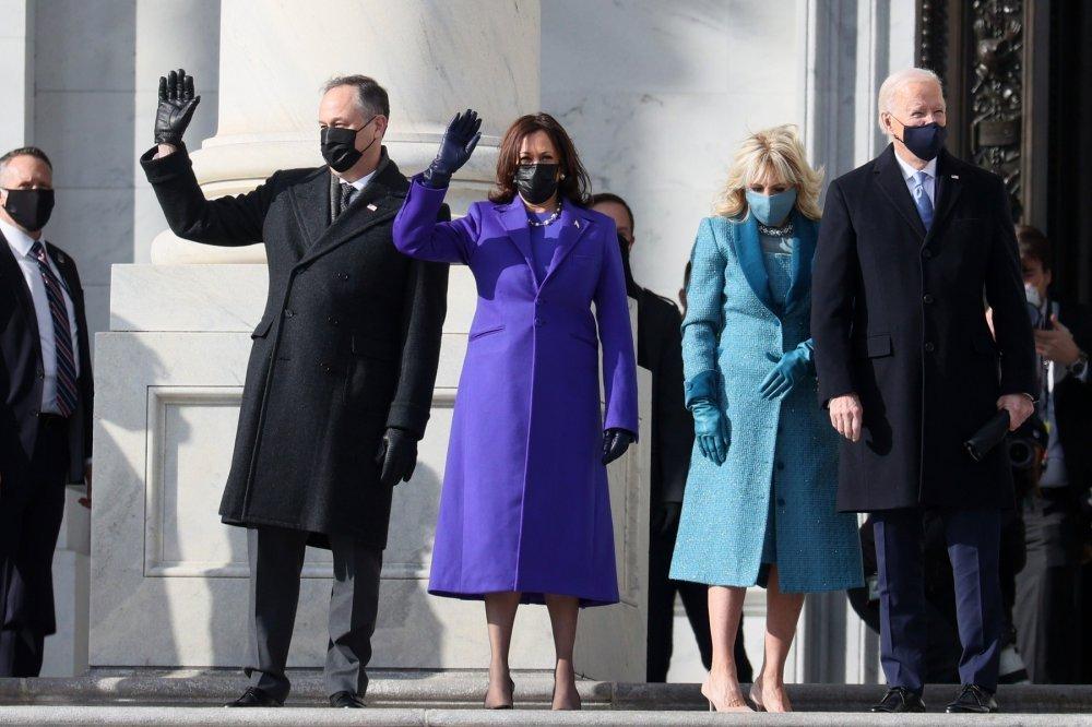 Kamala Harris, Doug Emhoff, Jill Biden, Joe Biden