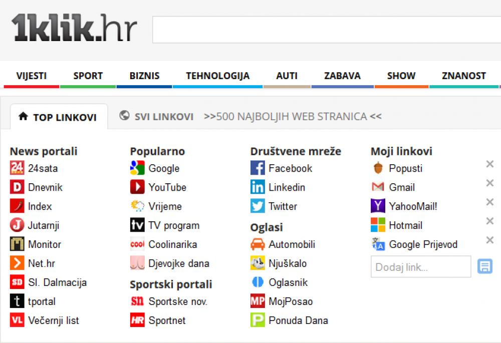 Hr vijesti 1klik sve sa portala najboljih vijesti Kako pretraživati