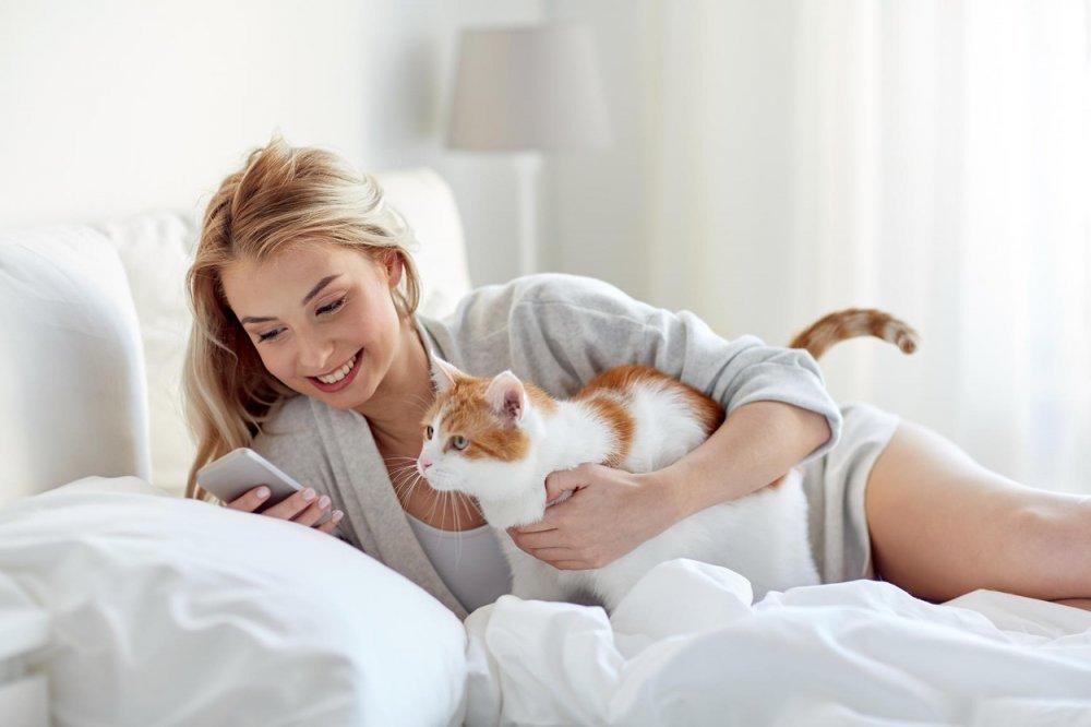 djevojka maca