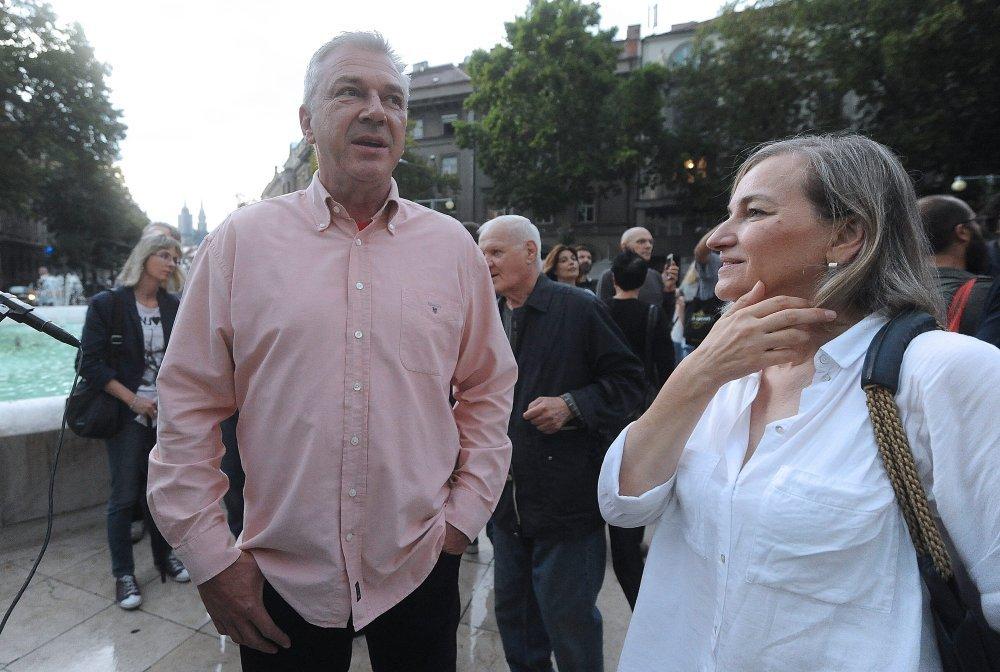 Saborski zastupnik SDP-a Ranko Ostojić i Đurđica Klancir direktorica komunikacija SDP-a