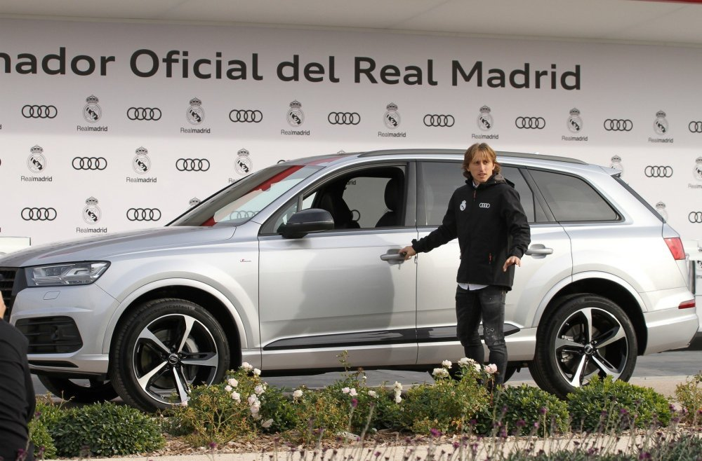 luka modrić Real Madrid Audi
