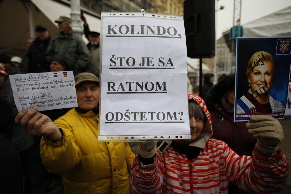 Image result for kolinda prosvjed udovica zagreb