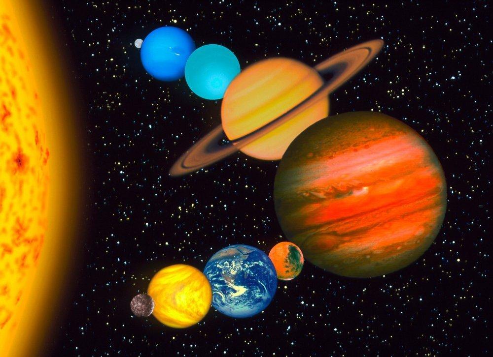 солнечная система планеты картинки планет двигались