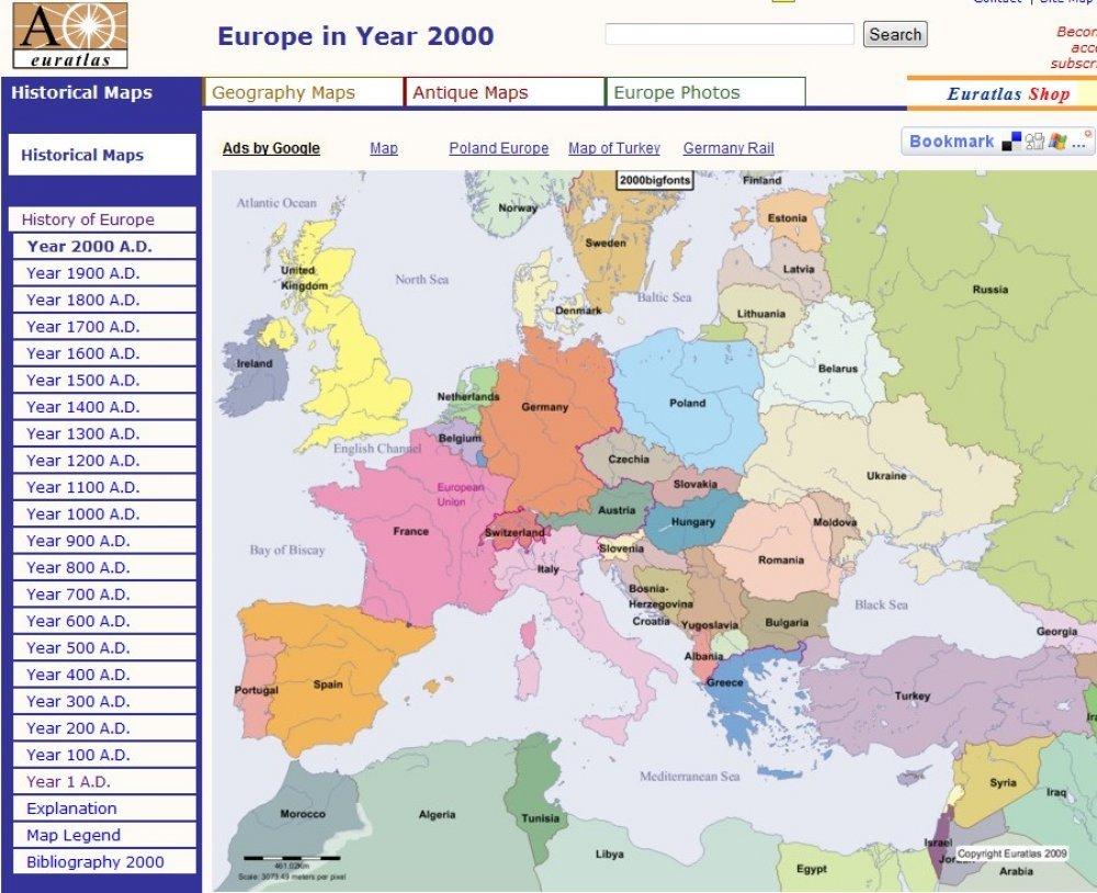 Dvije Tisuce Godina Povijesti Europe U Kartama Tportal