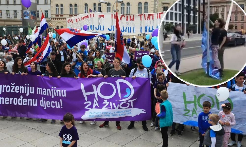 Skinuli Zastavu Hoda Za život Intervenirala Policija Tportal