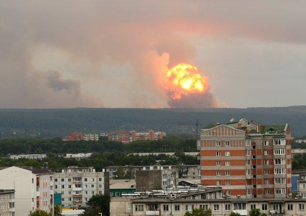 Eksplozija u vojnoj bazi