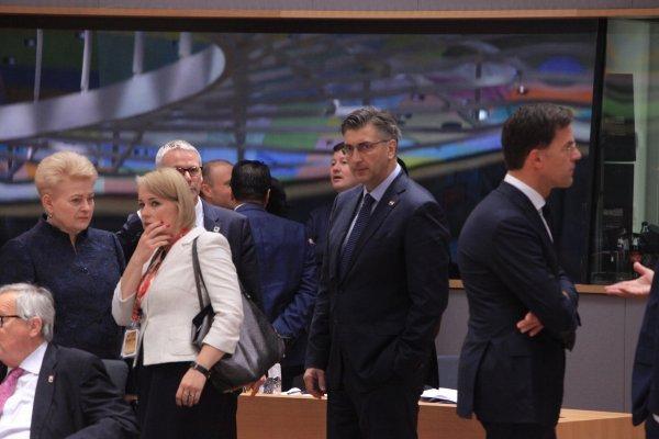 Andrej Plenković na sastanku Europskog vijeća
