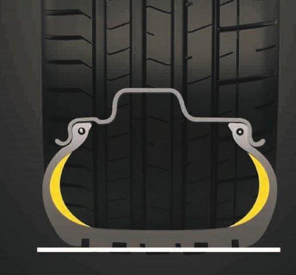 Poseban tip guma 'run flat', koje mogu voziti i kad izgube tlak zraka u gumi