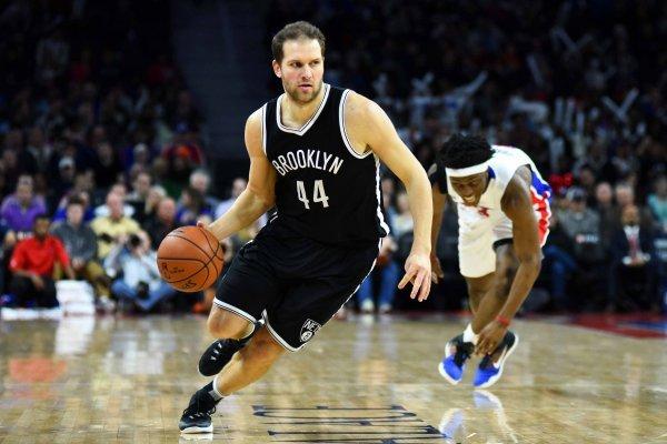 Bojan Bogdanović u dresu Brooklyn Netsa u koje je stigao u ljeto 2014.