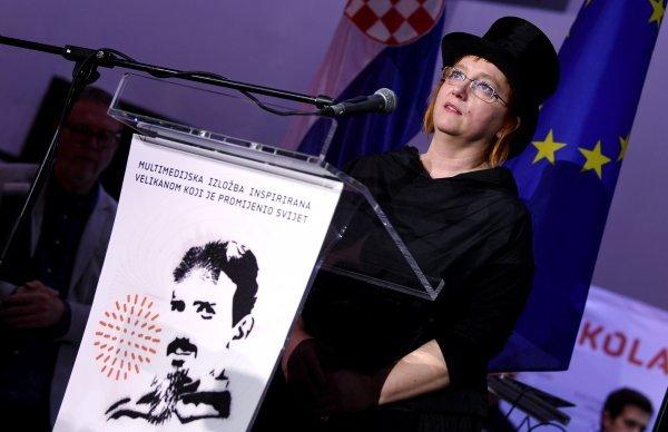 Helena Bulaja Madunić na otvaranju izložbe