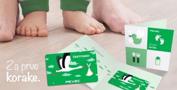 Darovna kartica za novorođenče