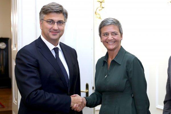 Premijer Andrej Plenković i Margrethe Vestager