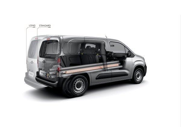 Peugeot Partner Furgon - prikaz korisnog prostora