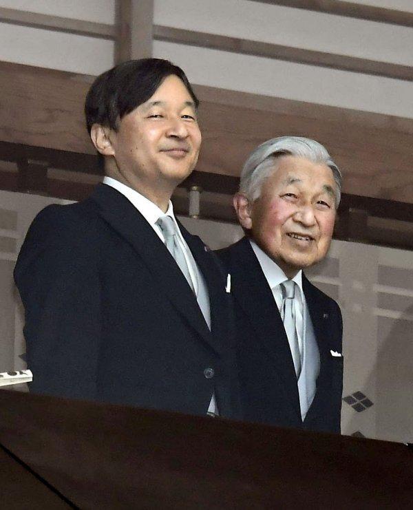Nadolazeći car Naruhito i još aktualni car, njegov otac Akihito